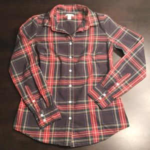 J Crew Stewart Plaid Shirt Sz 2